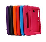 Для Кейс для  Samsung Galaxy Защита от удара / со стендом / Безопасно для детей Кейс для Задняя крышка Кейс для Один цвет PC SamsungTab 4