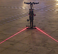 UNGROL Double Red Straight Lines Design 1 Laser Module 6 LED 6 Flash Mode Black Bike Warning Laser Light