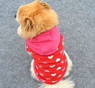 Lovely Pink Loving Heart Shape Soft Fleeces Hoodies for Pet Dogs (Assorted Sizes)