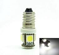 E10 1W 5X5050SMD 70-90LM 6500-7500K White Light for Car Door Lamp(DC12-16V)