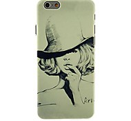 Hat Girl Pattern Case for iPhone 6