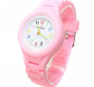 Children's Analog Coloured Silicone Band Wrist Watch(Assorted Colors)