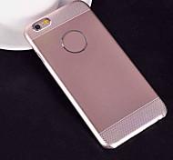 2 in 1 kombiniert Silicagel gebürstetem Metall Abdeckung für iphone 6 (verschiedene Farben)