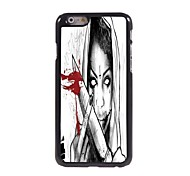 Girl With Knife Design Aluminum Hard Case for iPhone 6