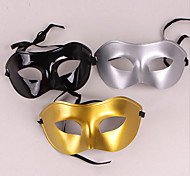 Cool Half-face PVC Unisex Halloween Party Mask(Random Color)