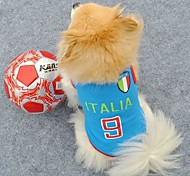 Number 9 Italia Sports Clothes for Pet Dogs (Assorted Sizes)