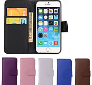 VORMOR® PU Leather Card Holder Full Body Cover Case for iPhone 6 (Assorted Colors)