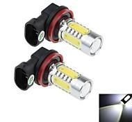 2Pcs H8 16W 2x Cree XP-E + 4x COB 1500LM 6000K White Light LED for Car Headlamp / Fog Light Lamp  (DC 12-24V)