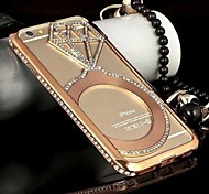 SHENGO™ Luxury Crystal Rhinestone Inlaid Style Metal Bumper Case for iPhone6