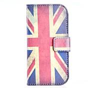 patrón de bandera británica de la PU cuero de la cubierta de cuerpo completo con soporte para Samsung Galaxy Lite tendencia s7390 / s7392