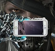 RJUST   Mechanical Arm Aluminum Alloy Hard Back Cover for iPhone 4 /4S  (Assorted Colors)