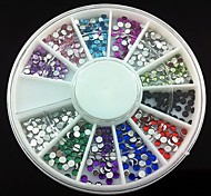 360PCS 2mm Nail Art Acrylic Rhinestones Nail Art Decoration