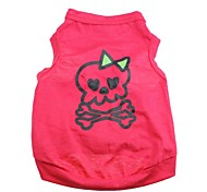 Cat / Dog Shirt / T-Shirt Rose Dog Clothes Spring/Fall Skulls / Hearts