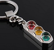 Silver Alloy Traffic Light Keychain