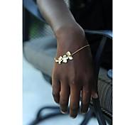 shixin® Mode 18cm Frauen Blumen Charme Armbänder (golden, silbern) (1 Stück)