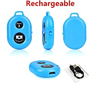Rechargeable Bluetooth Wireless Remote Shutter Self Timer Selfie Remote for Samsung and Android Phones(Assorted Colors)