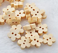 Pflaumenblüte Scrapbook scraft Nähen DIY Holzknöpfe (10 Stück)