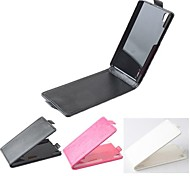 Hot Sale 100% PU Leather Flip Leather Up and Down Case for Huawei P7(Assorted Colors)