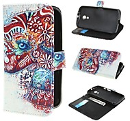 Two Colorized Elephants Wallet PU Leather Case Cover with Stand and Card Slot for Motorola Moto G2 XT1063 Dual Sim