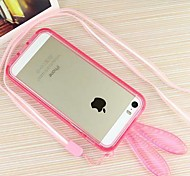 Crystal Rabbit Silicone Border Soft Case for iPhone 6 (Assorted Colors)