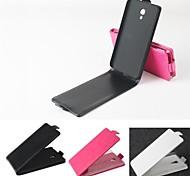 vendita calda cassa di cuoio dell'unità di elaborazione del cuoio di vibrazione 100% per Alcatel One Touch idolo 2s / 6050y (colori assortiti)