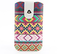 Aztec Tribal Pattern Pouch Bag Case with Metal Buckle and Belt Clip for iPhone 6 Plus