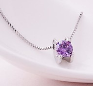 Fashion Women's Round Zircon Necklace(Assorted Colors)