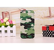 Camouflage Leather Coated TPU Case Cover for iPhone 6 Plus