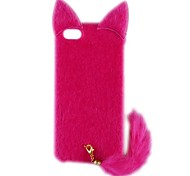 AL01 Cat Style PC and Plush Back Case with Tail for iPhone 5/5S (Assorted Colors)