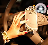 Three-dimensional  with Diamond Hard Back Cover  for iPhone 4 / iPhone 4S