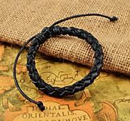 tissage réglable les bracelets en cuir PU classiques pour hommes