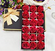 18 rosa aromaterapia aceite esencial de rosa de la flor del jabón para el cuerpo