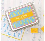 Tin Box Little Kids DIY Plastic Foam Seal Stamp Set