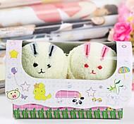 asciugamano regalo di compleanno coniglio fibra forma creativa (colore casuale) (2 pc / insieme)