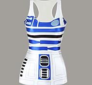 Zukunft android Trägershirtkleid Nachtclub reizvolle Uniform