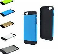 поверхность кристалла броня дизайн полосы и сетки задней стороны обложки для iphone 6 случае 4.7inch (разных цветов)