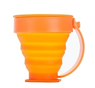 Plastics / Silicone Cup Orange Single outdoor