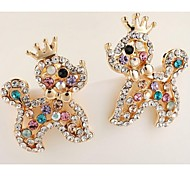 Love Is Your Fashion Exquisite Puppy Shape Cartoon Stud Earrings
