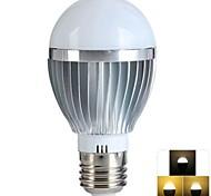 5W E26/E27 Bombillas LED de Globo 12 SMD 100-500 lm Blanco Cálido Regulable / Control Remoto AC 85-265 V