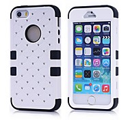 2014 New 3 in 1 Combo Hybrid Case Glitter/bling Studded Diamond Dual Layer Pc&silicone Protective Case for iPhone 5/5S