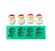 cinco buracos bolo de natal Papai Noel fondant de chocolate molde de silicone