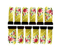 12pcs rose motif filigrane ongles art autocollants c4-011