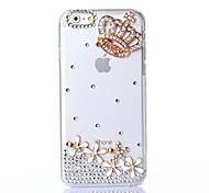 DIY Crown Pattern Plastic Hard Cover for iPhone 6 Plus