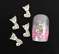 10pcs Lovely Accessories Alloy Kitty Nail Art Decoration