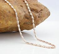 18k plaqué cc / 585 en or rose or bambou collier de cuivre de 60 cm