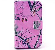 COCO FUN® Pink Branch Pattern PU Leather Full Body Case with Screen Protector, Stylus and Stand for Motorala Moto E