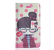 For Samsung Galaxy Case Wallet / Card Holder / with Stand / Flip / Pattern Case Full Body Case Cartoon PU Leather Samsung Trend Duos