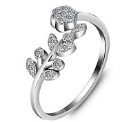 Genuine 925 Sterling Silver Rings for Lady Fashion Accessories Adjustable Flower Lady Rings