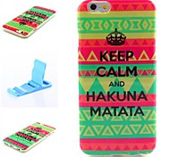 Hakuna Matata Pattern Silicone Soft Cover and Mini Diaplay Stand for iPhone 6