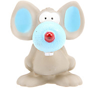 Squeaking Big Blue Ear and Nose Mouse Style Rubber Novelty Toys for Dogs